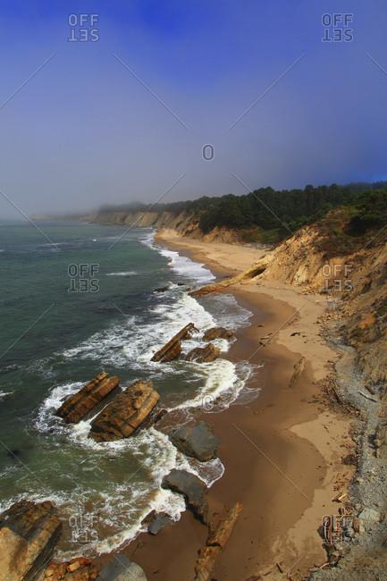 Usa, North California. Gallaway, Bowling ball Beach