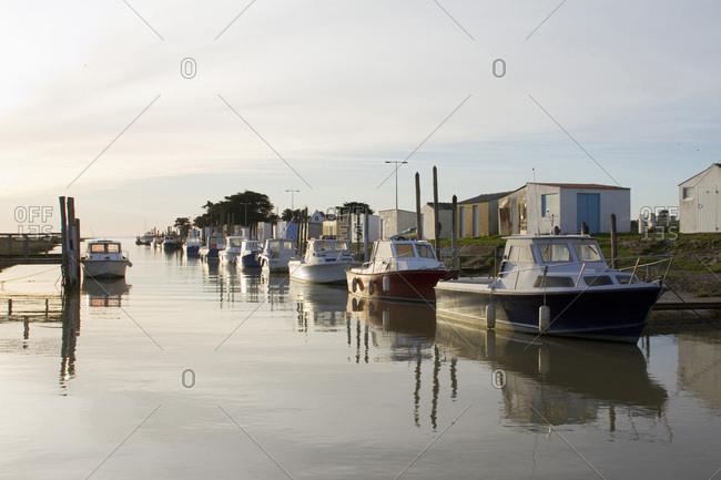 March 13, 2017: France, Les Moutiers-en-Retz, harbor of Collet.