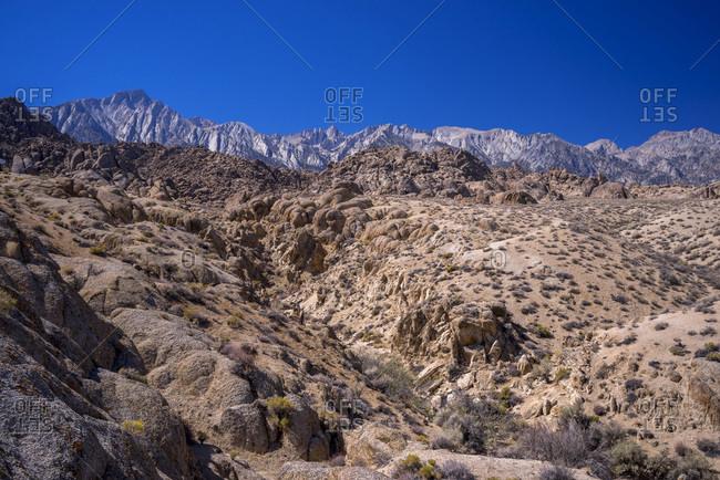 USA, California, Lone Pine,  Alabama Hills,  Mt Whitney