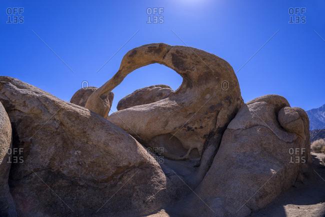 USA, California, Lone Pine,  Alabama Hills, Mobius Arch