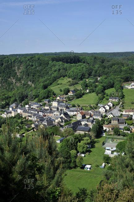 France, region of Pays de La Loire, Sarthe department, village of Saint-Leonard-des-Bois on the banks of the Sarthe river.
