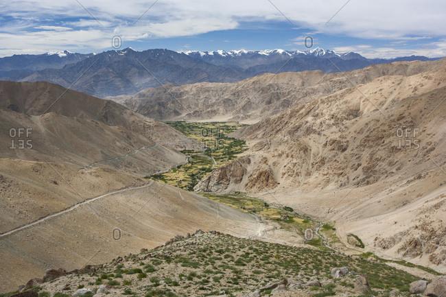 Pangong lake road between Kamu and Chemrey, Ladakh, India