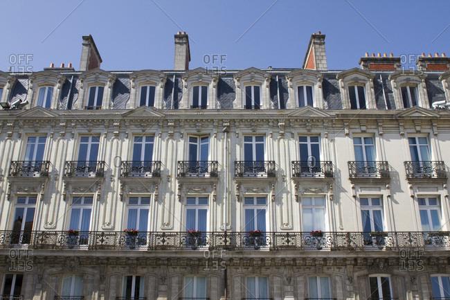 France, Nantes, facade of old building.
