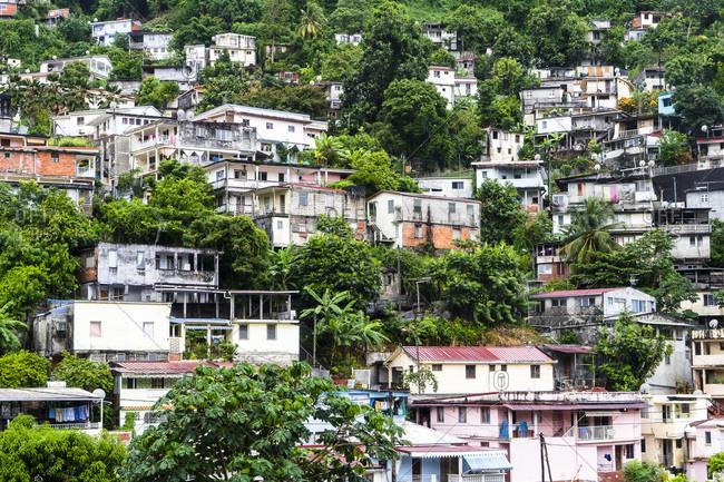 Northern quarter, houses on stilts, Fort-de-France, Martinique
