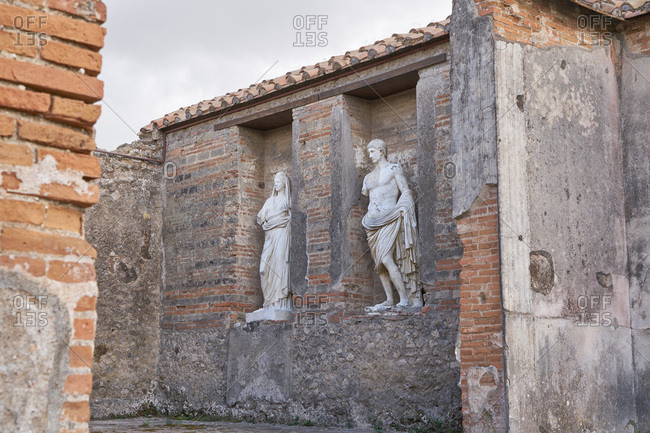 Statues at the ancient city of Pompeii