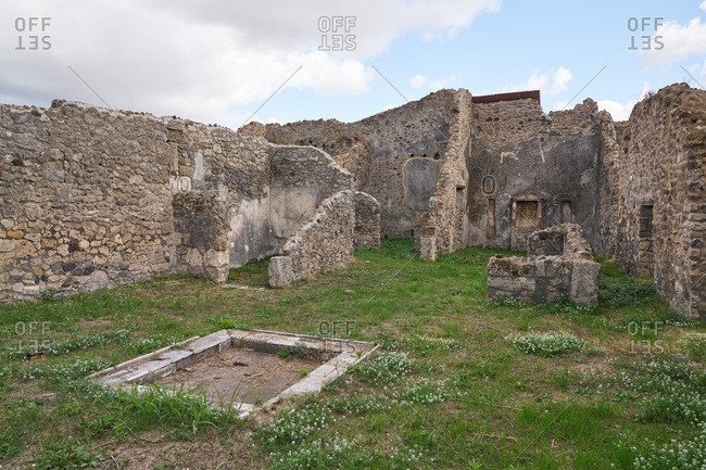 Ruins at the archaeological site of Pompeii