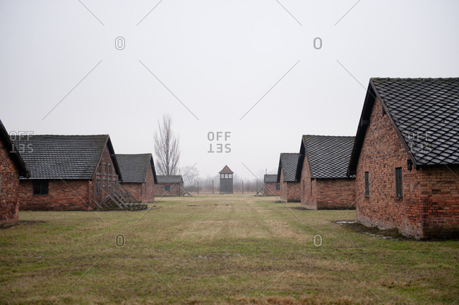 Bunk houses at Auschwitz-Birkenau