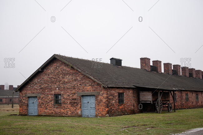 A bunk house at Auschwitz-Birkenau