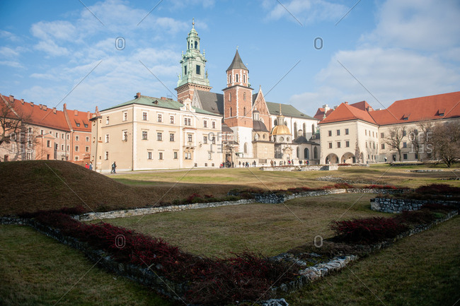 Wawel Cathedral complex in Krakow, Poland