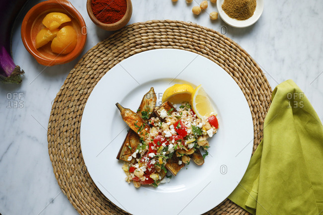 Eggplant and chickpeas dish - Offset