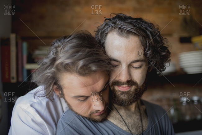Portrait of a gay couple
