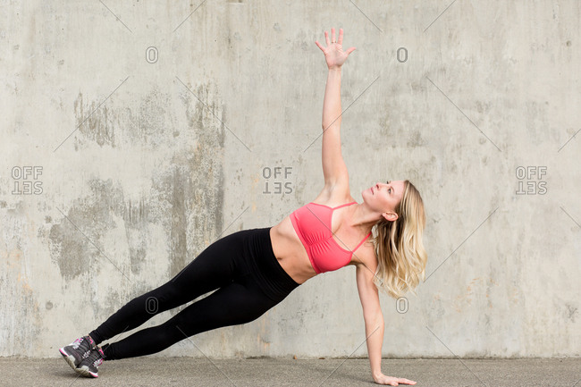Woman doing a side plank