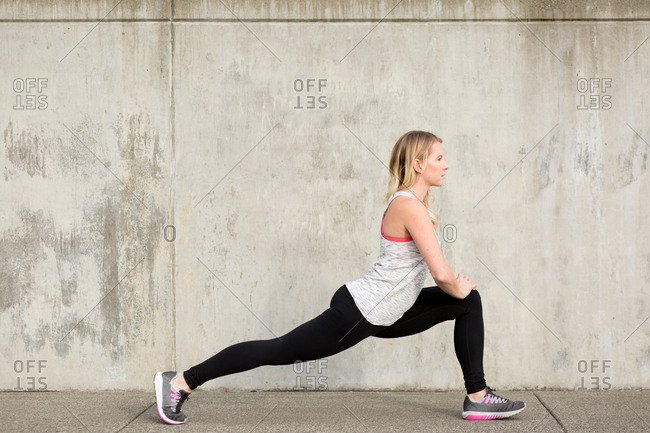 Woman in a deep lunge