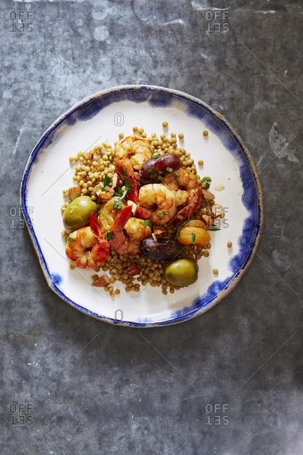 Moroccan shrimp and couscous