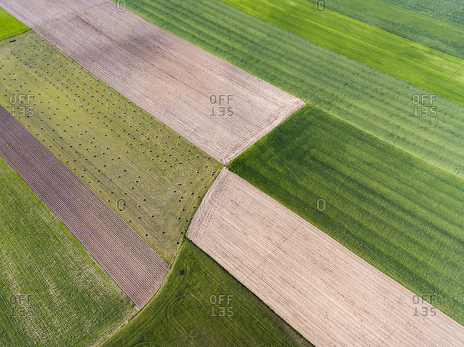 Aerial view of farmland - Offset