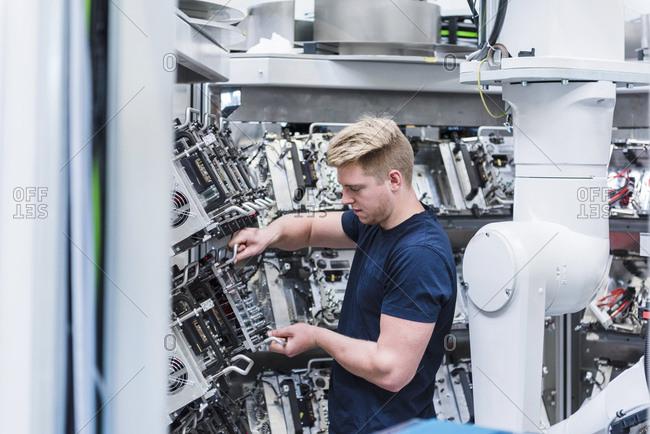 Man working in modern factory