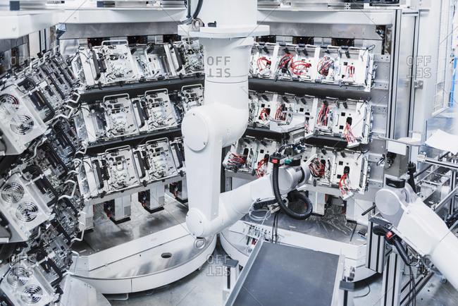 Industrial robot in factory