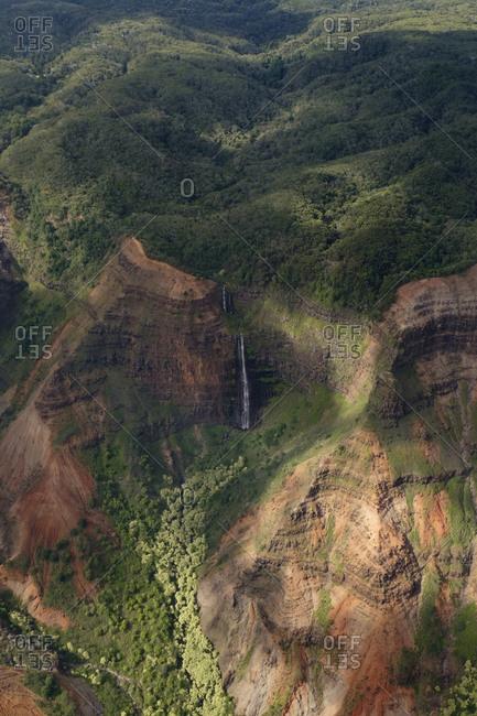 USA- Hawaii- Kauai- Waimea Canyon- Waipoo Falls