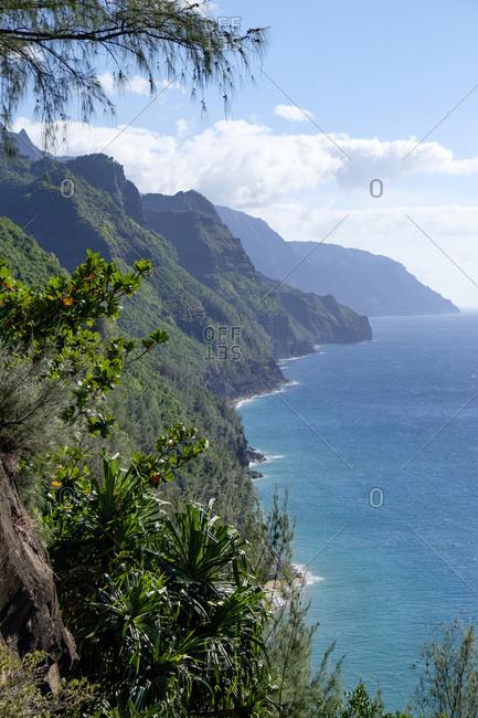USA- Hawaii- Kauai- Na Pali Coast State Park-  coast
