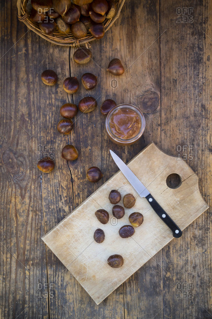 Sweet chestnuts- roasted and sweet chestnut cream