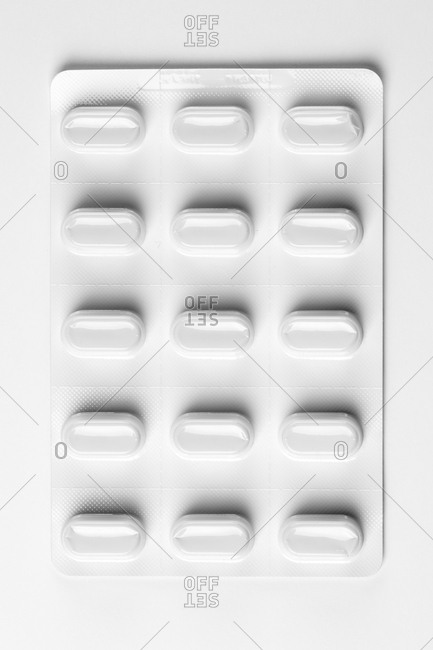An empty capsule blister pack