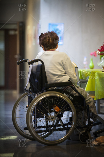 January 7, 2015: Reportage in a state nursing home in Haute-Savoie, France.