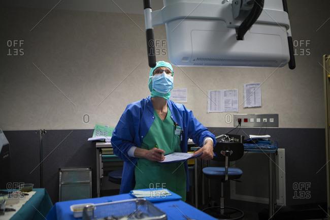 April 7, 2016: Reportage in a dermatology practice in Geneva, Switzerland.