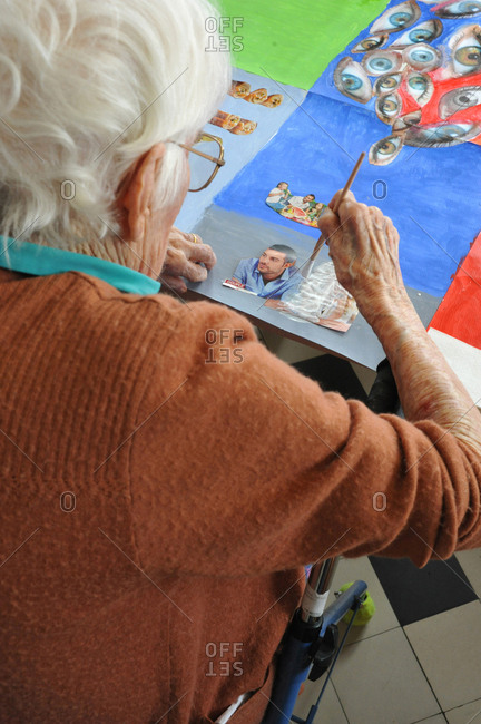 March 7, 2017: Report on the art-therapy at the long-stay unit of Ham Hospital, in the Somme, France. The art-therapy workshops are carried out at the School of Activities and Adapted Care (PASA).