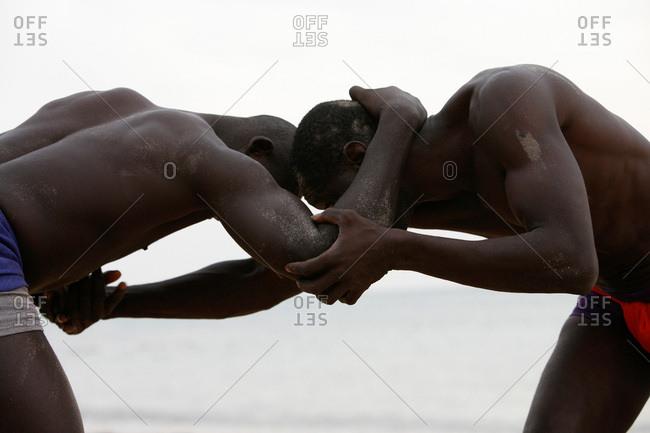 African men boxing