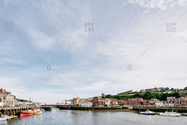 Whitby, North Yorkshire, England - July 21, 2017: Scenic view