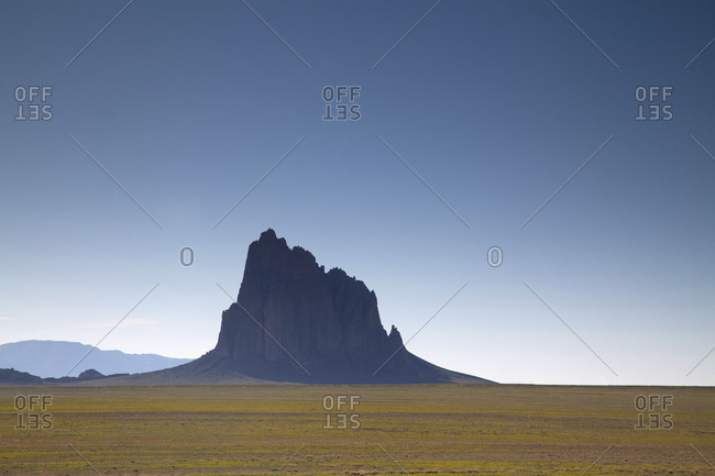 Shiprock rock formation in New Mexico