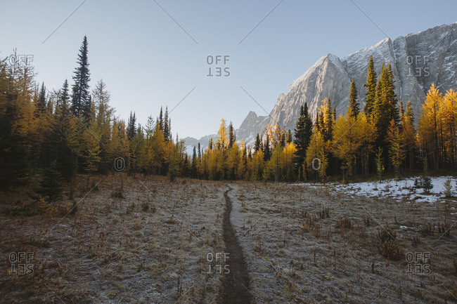 Autumn mountain landscape in British Columbia, Canada