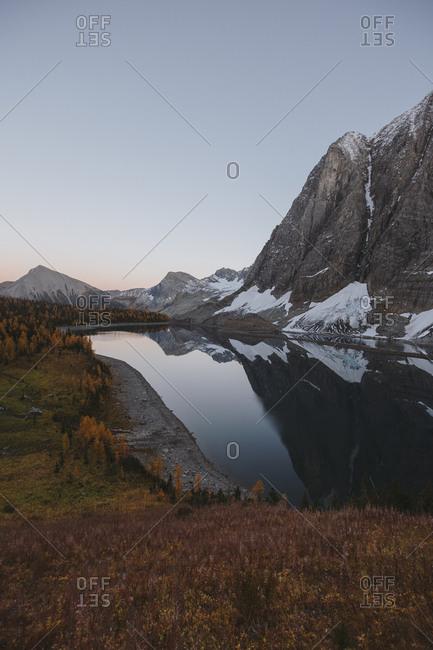 Floe Lake during fall in British Columbia, Canada