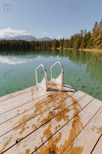 Wet dock on a lake in Canada