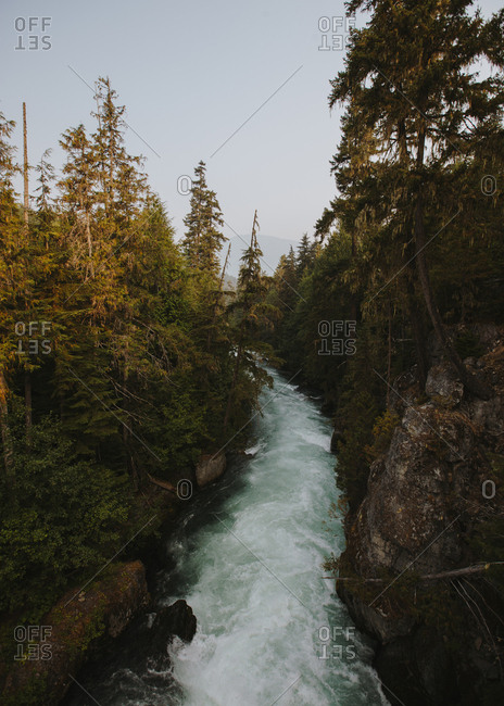 Raging river in Whistler, British Columbia, Canada