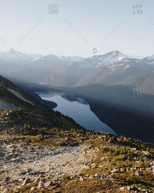 Mountainside lake in Whistler, British Columbia, Canada