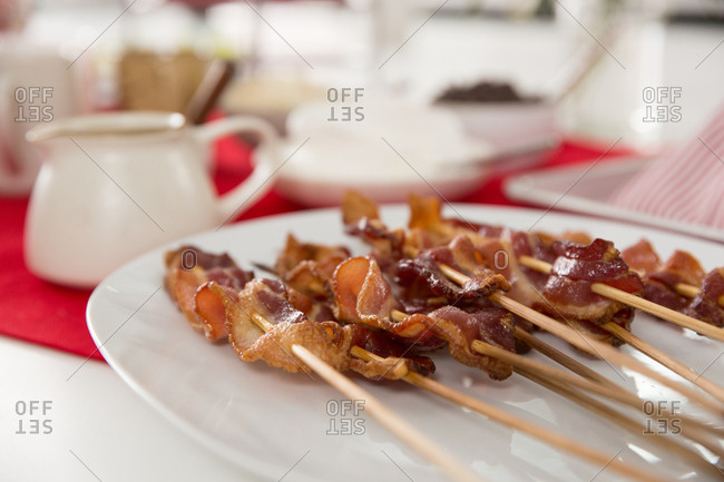 Bacon on a stick