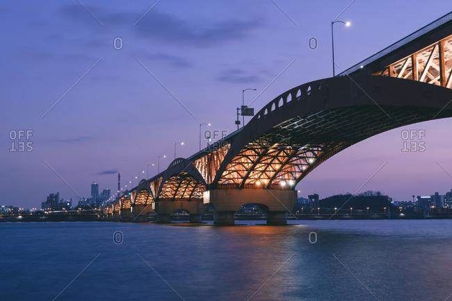 Seoul, South Korea - February 18, 2017: Bridge over the Han River