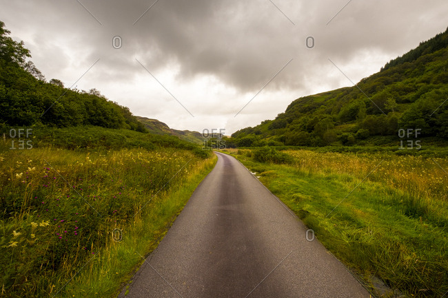 Rural road in Scammadale, Scotland