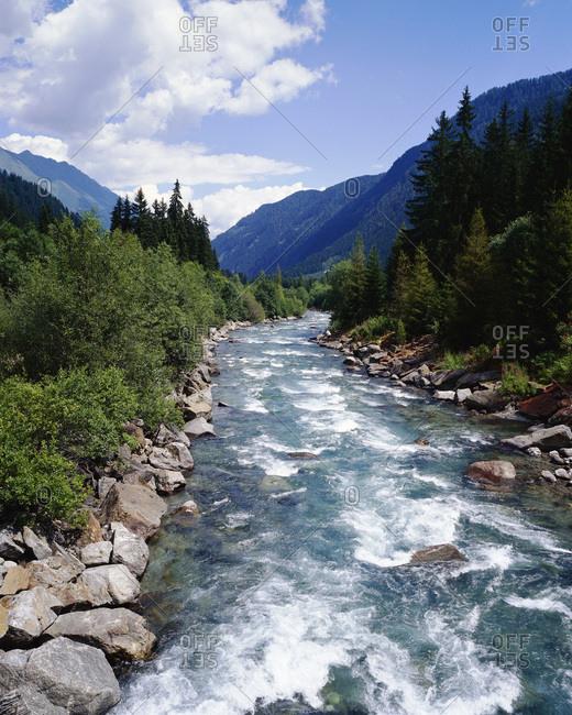Schwarzack River, Defereggen Valley, Austria