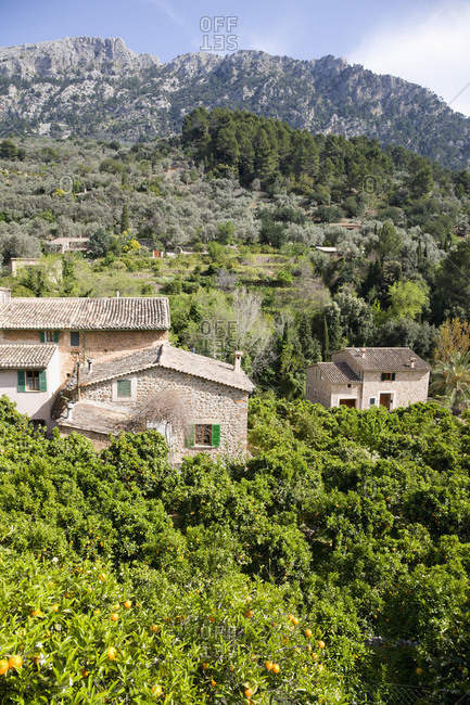 Overview of Houses, Fornalutx, Mallorca, Spain