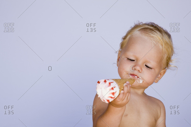 Baby Eating Ice Cream Cone