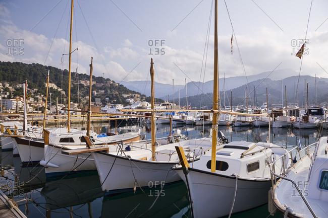 Sailboats, Port de Soller, Balearic Islands, Mallorca, Spain