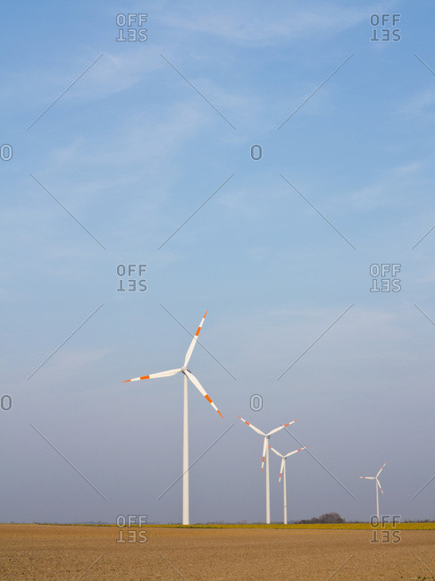 Wind Turbines, North Rhine-Westphalia, Germany