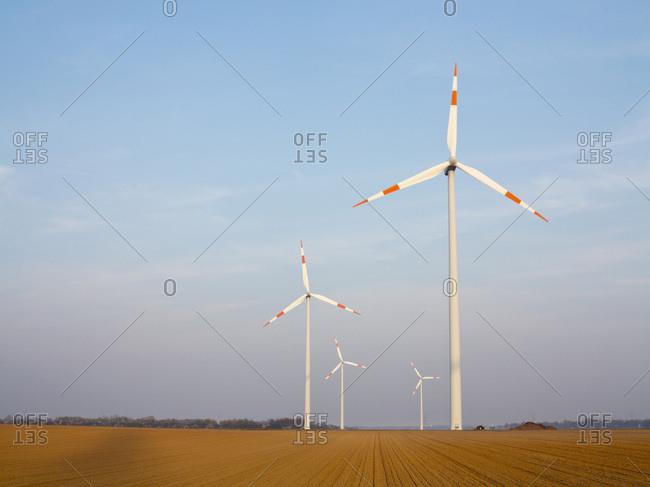 Wind Turbines, North Rhine-Westphalia, Germany