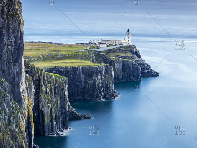 Great Britain- Scotland- Isle of Skye- Lighthouse at Neist Point