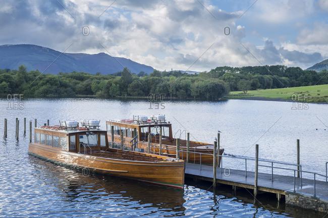 Great Britain- England- Lake District National Park- Keswick- lake- boats