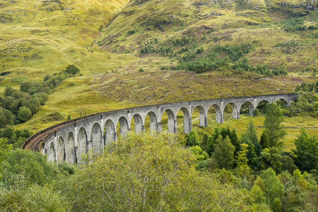 Great Britain- Scotland- Scottish Highlands- Glenfinnan Viaduct