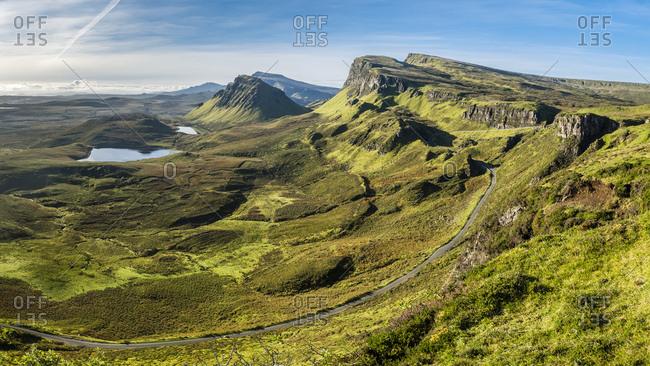 Great Britain- Scotland- Isle of Skye- Mountain pass near Quiraing