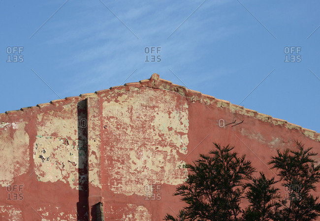 Side and roof of old building